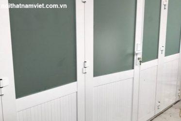 Thi công cửa nhôm hệ 1000 trường mẫu giáo MISA Phú Quốc