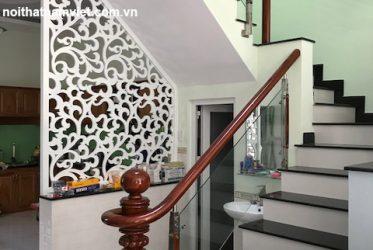 Thi công lan can cầu thang và cửa sắt nhà chị Hương Gò Vấp