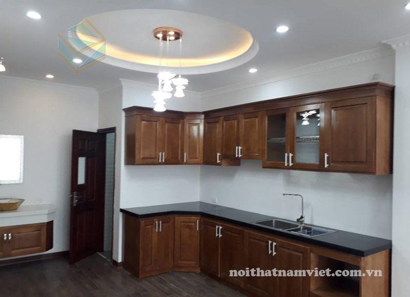 Thiết kế và thi công tủ bếp gỗ tự nhiên