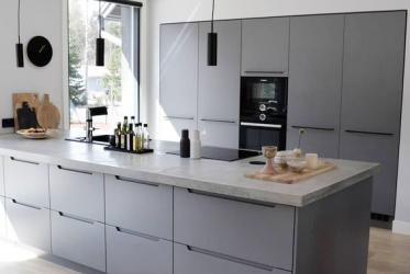 Thiết kế thi công tủ bếp nhôm hiện đại phá cách 0014 tại Thành Phố Hồ Chí Minh