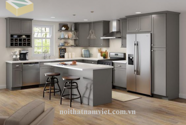 Thiết kế thi công tủ bếp nhôm đẹp 0015 nhà anh Dũng – Quận 2 Thành Phố Hồ Chí Minh