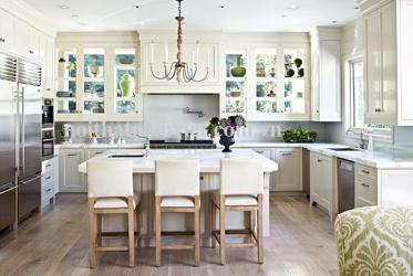 Thiết kế thi công tủ bếp nhôm chữ U màu trắng đẹp 0019- lắp đặt TP HCM