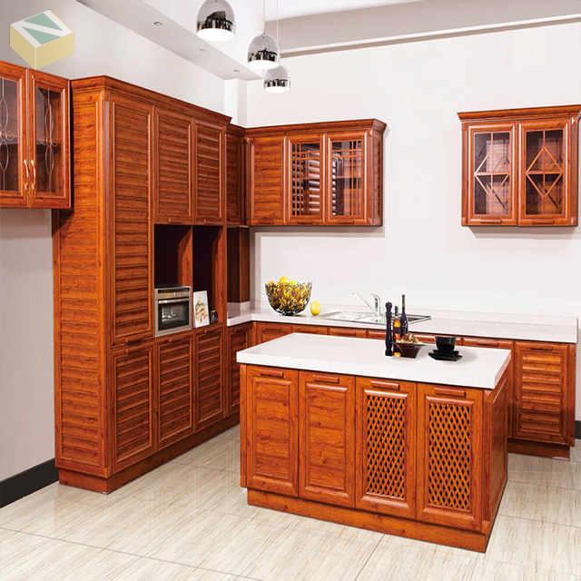tủ bếp nhôm kết hợp bàn đảo