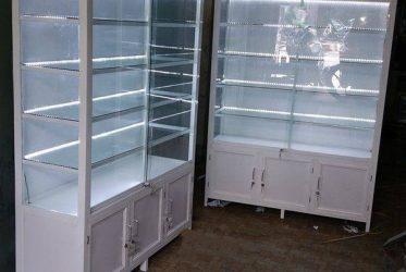 Nhận đóng tủ trưng bày mỹ phẩm nhôm kính giá rẻ TPHCM TTB-2001