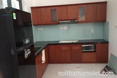 Tủ bếp nhôm sơn tĩnh điện chung cư Lê Thành quận Bình Tân TBNK-0024