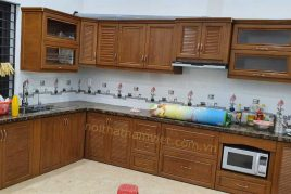 Nhận đóng tủ bếp nhôm vân gỗ cao cấp giá rẻ tại Gò Vấp TPHCM